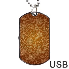 Batik Art Pattern Dog Tag Usb Flash (one Side) by BangZart