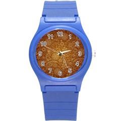 Batik Art Pattern Round Plastic Sport Watch (s) by BangZart