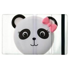 Pretty Cute Panda Apple Ipad 3/4 Flip Case by BangZart