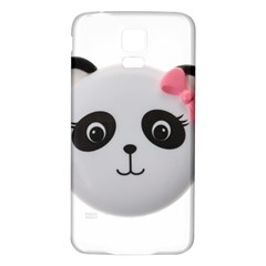 Pretty Cute Panda Samsung Galaxy S5 Back Case (white) by BangZart