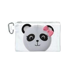 Pretty Cute Panda Canvas Cosmetic Bag (s) by BangZart