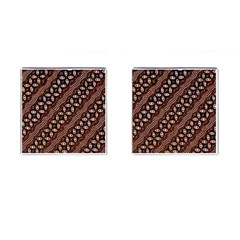 Art Traditional Batik Pattern Cufflinks (square) by BangZart