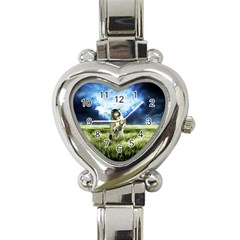 Astronaut Heart Italian Charm Watch by BangZart