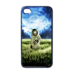 Astronaut Apple Iphone 4 Case (black) by BangZart