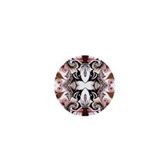 Art Traditional Batik Flower Pattern 1  Mini Buttons by BangZart