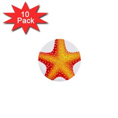 Starfish 1  Mini Buttons (10 Pack)  by BangZart
