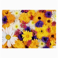 Colorful Flowers Pattern Large Glasses Cloth (2 Side) by BangZart