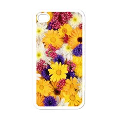 Colorful Flowers Pattern Apple Iphone 4 Case (white) by BangZart