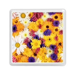 Colorful Flowers Pattern Memory Card Reader (square)  by BangZart