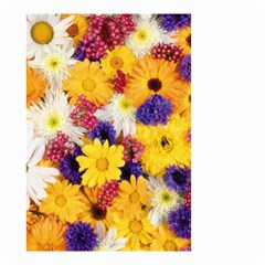 Colorful Flowers Pattern Small Garden Flag (two Sides) by BangZart