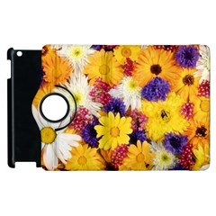 Colorful Flowers Pattern Apple Ipad 2 Flip 360 Case by BangZart