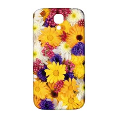 Colorful Flowers Pattern Samsung Galaxy S4 I9500/i9505  Hardshell Back Case by BangZart