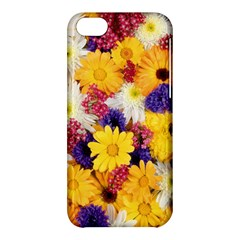Colorful Flowers Pattern Apple Iphone 5c Hardshell Case by BangZart