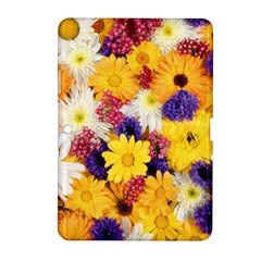 Colorful Flowers Pattern Samsung Galaxy Tab 2 (10 1 ) P5100 Hardshell Case  by BangZart