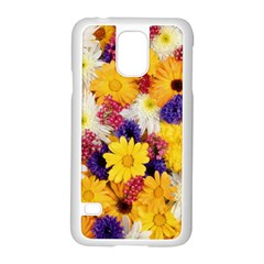 Colorful Flowers Pattern Samsung Galaxy S5 Case (white) by BangZart