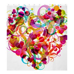 Abstract Colorful Heart Shower Curtain 66  X 72  (large)  by BangZart