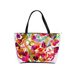 Abstract Colorful Heart Shoulder Handbags by BangZart