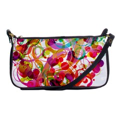 Abstract Colorful Heart Shoulder Clutch Bags by BangZart