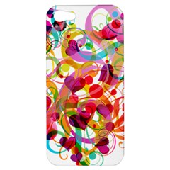Abstract Colorful Heart Apple Iphone 5 Hardshell Case by BangZart