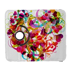 Abstract Colorful Heart Galaxy S3 (flip/folio) by BangZart