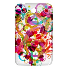 Abstract Colorful Heart Samsung Galaxy Tab 3 (7 ) P3200 Hardshell Case  by BangZart