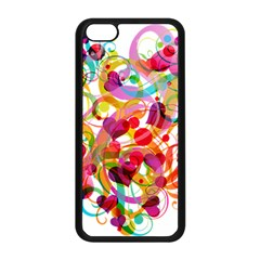 Abstract Colorful Heart Apple Iphone 5c Seamless Case (black) by BangZart