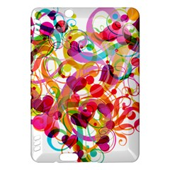 Abstract Colorful Heart Kindle Fire Hdx Hardshell Case by BangZart