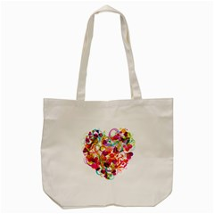 Abstract Colorful Heart Tote Bag (cream) by BangZart