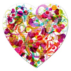 Abstract Colorful Heart Jigsaw Puzzle (heart) by BangZart