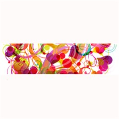 Abstract Colorful Heart Large Bar Mats by BangZart