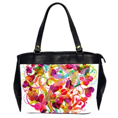 Abstract Colorful Heart Office Handbags (2 Sides)  by BangZart