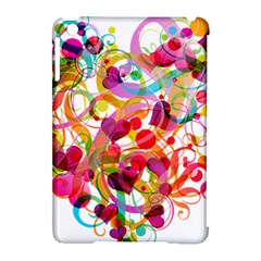 Abstract Colorful Heart Apple Ipad Mini Hardshell Case (compatible With Smart Cover) by BangZart