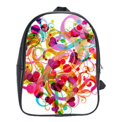 Abstract Colorful Heart School Bags (xl)  by BangZart