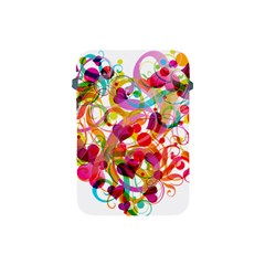 Abstract Colorful Heart Apple Ipad Mini Protective Soft Cases by BangZart