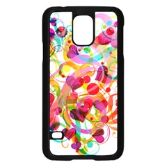 Abstract Colorful Heart Samsung Galaxy S5 Case (black)