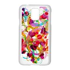 Abstract Colorful Heart Samsung Galaxy S5 Case (white) by BangZart