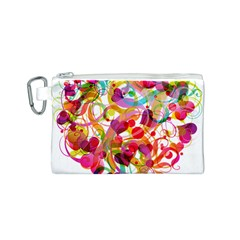 Abstract Colorful Heart Canvas Cosmetic Bag (s) by BangZart