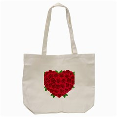 Floral Heart Tote Bag (cream) by BangZart