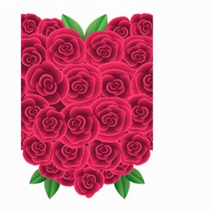Floral Heart Small Garden Flag (two Sides) by BangZart