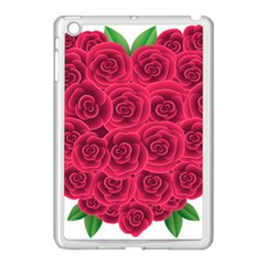 Floral Heart Apple Ipad Mini Case (white) by BangZart