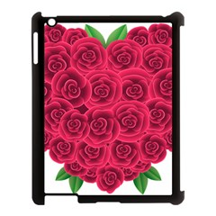 Floral Heart Apple Ipad 3/4 Case (black) by BangZart