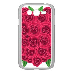 Floral Heart Samsung Galaxy Grand Duos I9082 Case (white) by BangZart