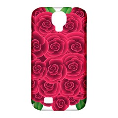 Floral Heart Samsung Galaxy S4 Classic Hardshell Case (pc+silicone) by BangZart