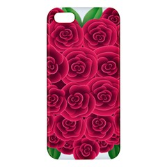 Floral Heart Iphone 5s/ Se Premium Hardshell Case by BangZart