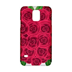 Floral Heart Samsung Galaxy S5 Hardshell Case  by BangZart