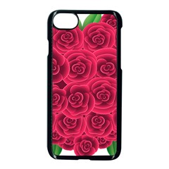 Floral Heart Apple Iphone 7 Seamless Case (black) by BangZart