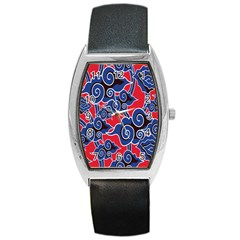 Batik Background Vector Barrel Style Metal Watch by BangZart