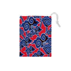 Batik Background Vector Drawstring Pouches (small)  by BangZart
