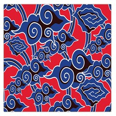 Batik Background Vector Large Satin Scarf (square) by BangZart