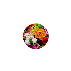Colorful Flowers 1  Mini Buttons by BangZart